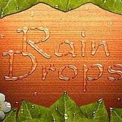 текст из капель дождя