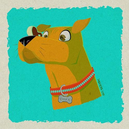пес на гранжевом фоне