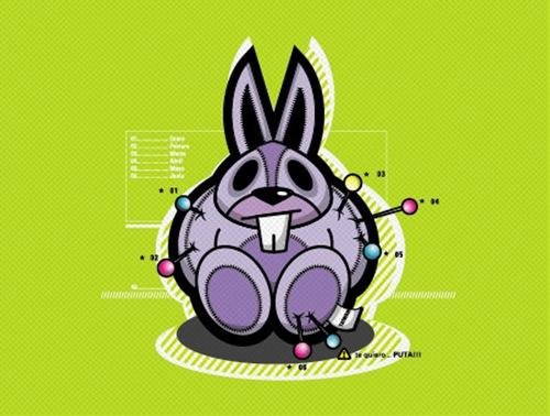 кролик-подушка