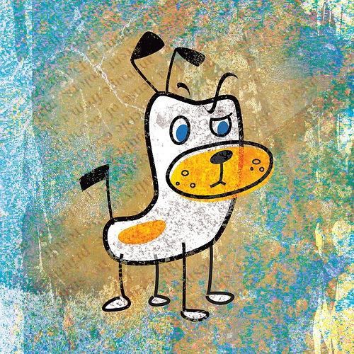 гранжевая собака