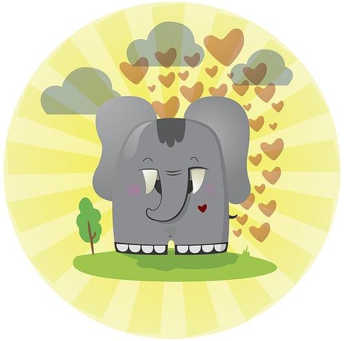влюбленный слон