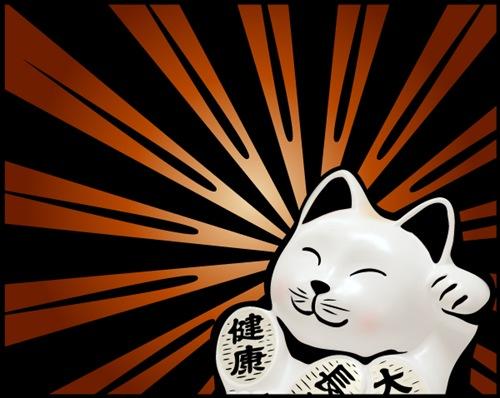 кот в японском стиле