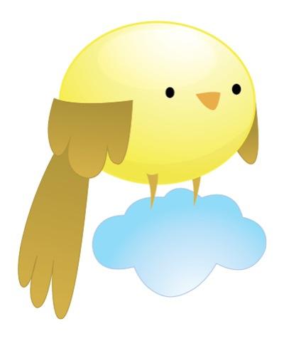 птичка на облаке