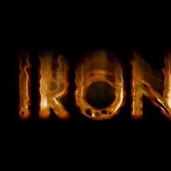 Текст в стиле Iron Man