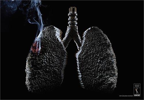 Социальная  реклама ADESF о вреде курения