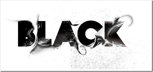 черный 3d шрифт