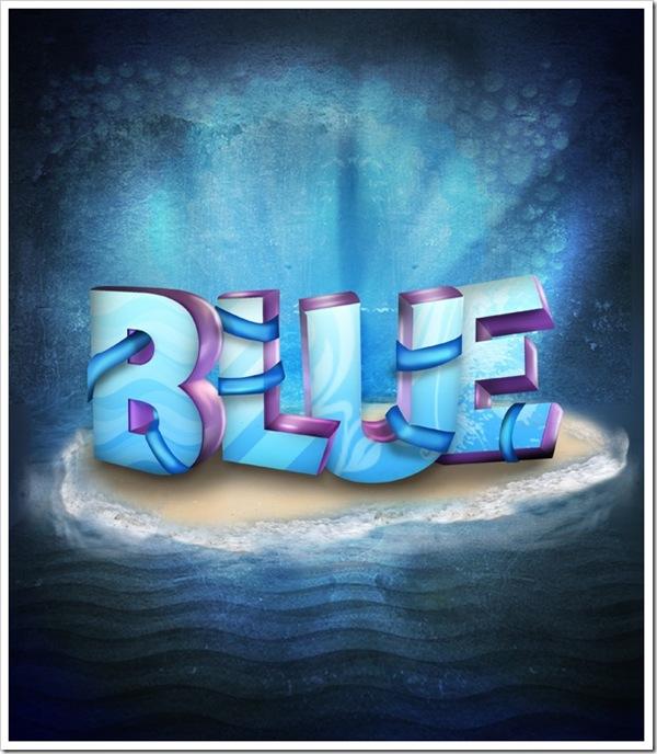 голубой 3d остров