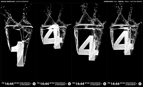 цифры падающие в воду
