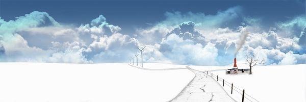 зима и облака
