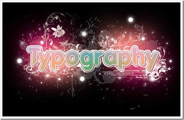 примеры яркой 3d типографики