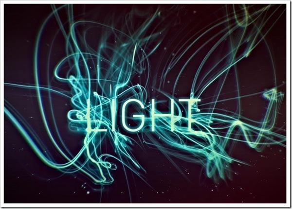 типографический 3d свет