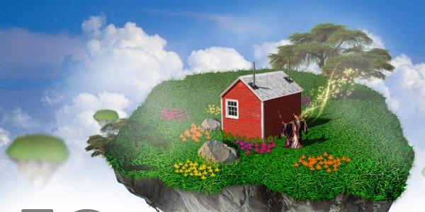 Создайте остров в облаках