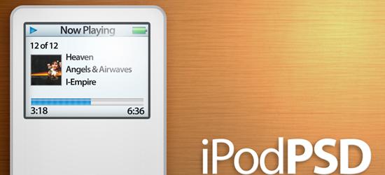 iPod Nano PSD файл