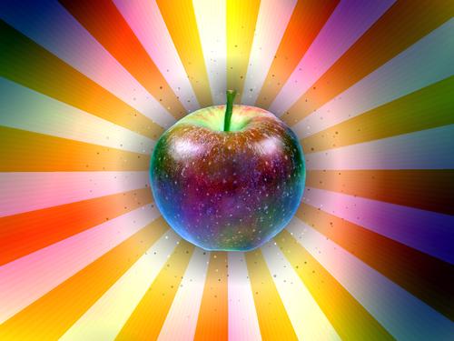 яркое яблоко