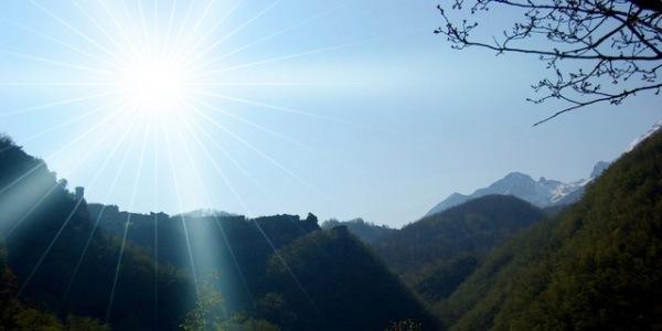 Создайте лучи солнца на пустом месте