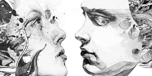 чрно-белая иллюстрация