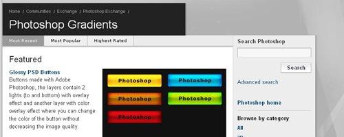 2000 градиентов с официального сайта Adobe