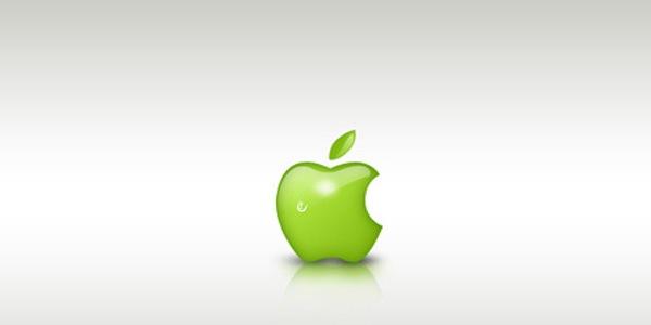 Зеленый дизайн в стиле Apple