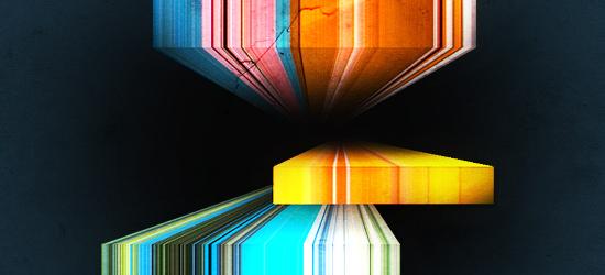 Эффект вытянутых ярких 3D линий
