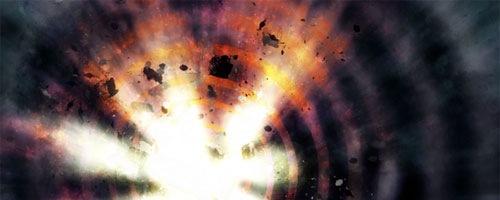 Яркий космический взрыв