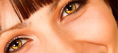 сияющие темные глаза