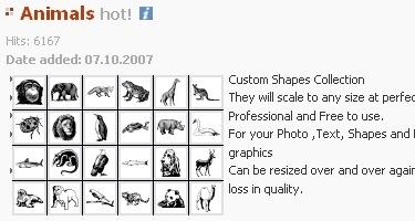 Огромный ресурс форм для фотошопа