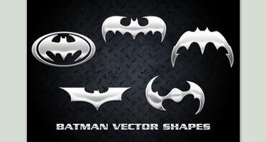 Формы векторных логотипов бэтмена