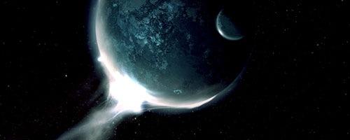Световой след планет