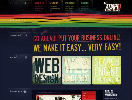 Темный дизайн сайта