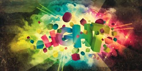 3D цветной взрывной текст