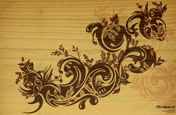 иллюстрация с элементами цветов