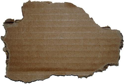 вырванный кусок картона