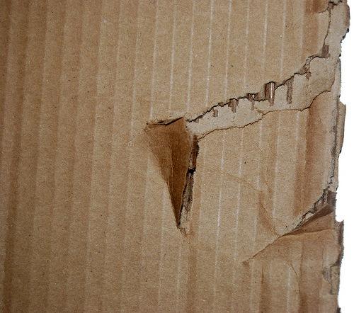 розорванный картон