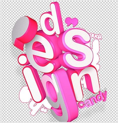 веселая 3d типографика