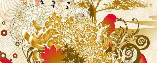 Осенняя природа в дизайнах