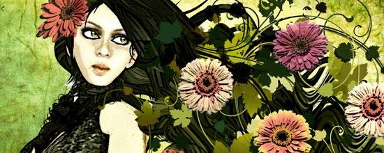 Девушка в осенних красках