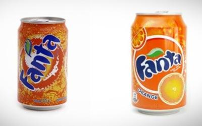 Изменение дизайна Fanta