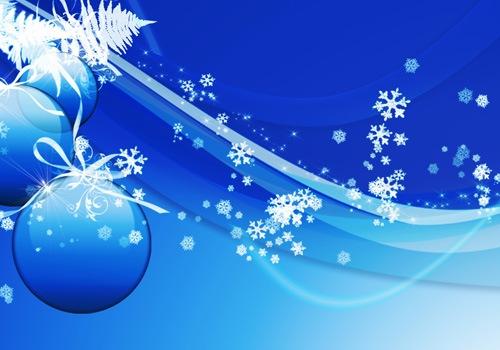 Рождество в голубых красках