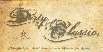 классический гранжевый шрифт