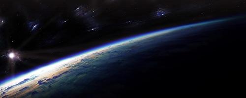 Рассвет над землей