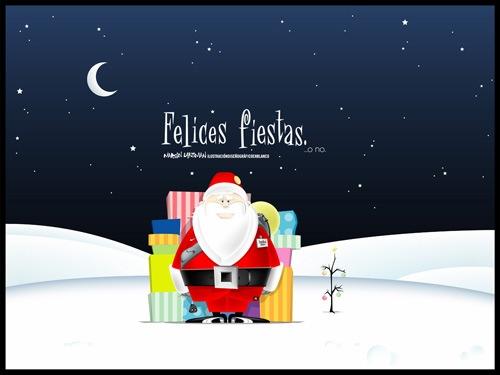 Веселый Санта с подарочками
