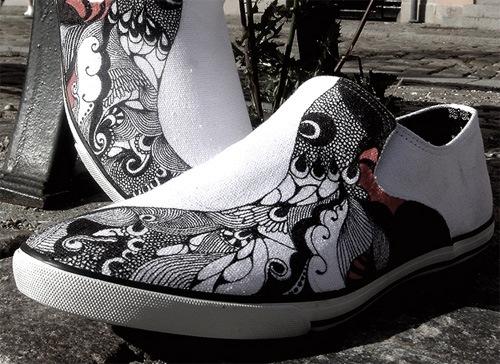 иллюстрированная обувь