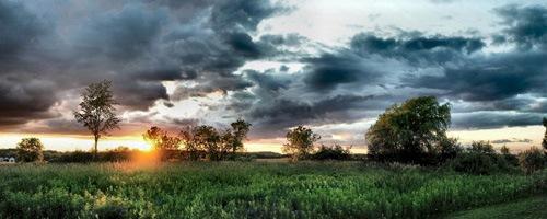 Выразительный закат
