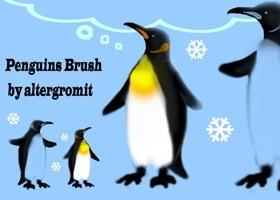 кисти-пингвины