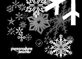 кисти фотошопа снежинки