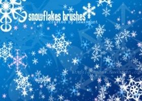 кисти-снежинки