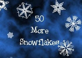 более 50 кистей снежинок