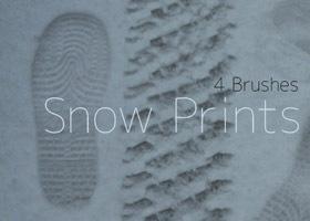 отпечатки на снегу