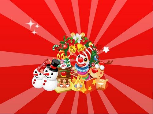 веселые новогодние игрушки