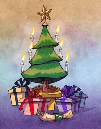 """Открытка """"Счастливого Рождества"""""""